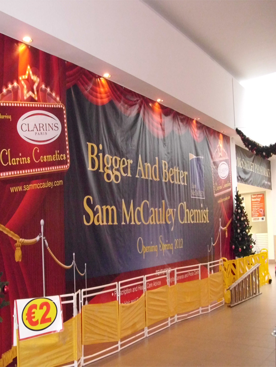 B) Digitally Printed PVC Banner