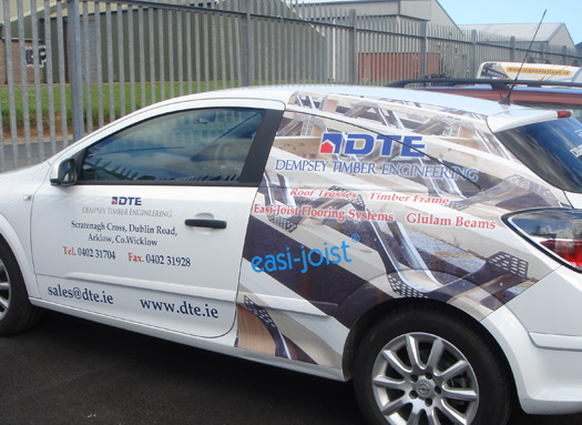 B) Half Digital Cast Vinyl Wrap