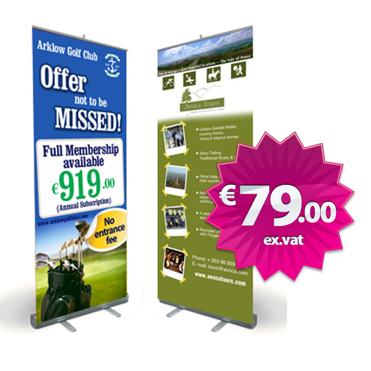 Economy Roll Up Display Banner