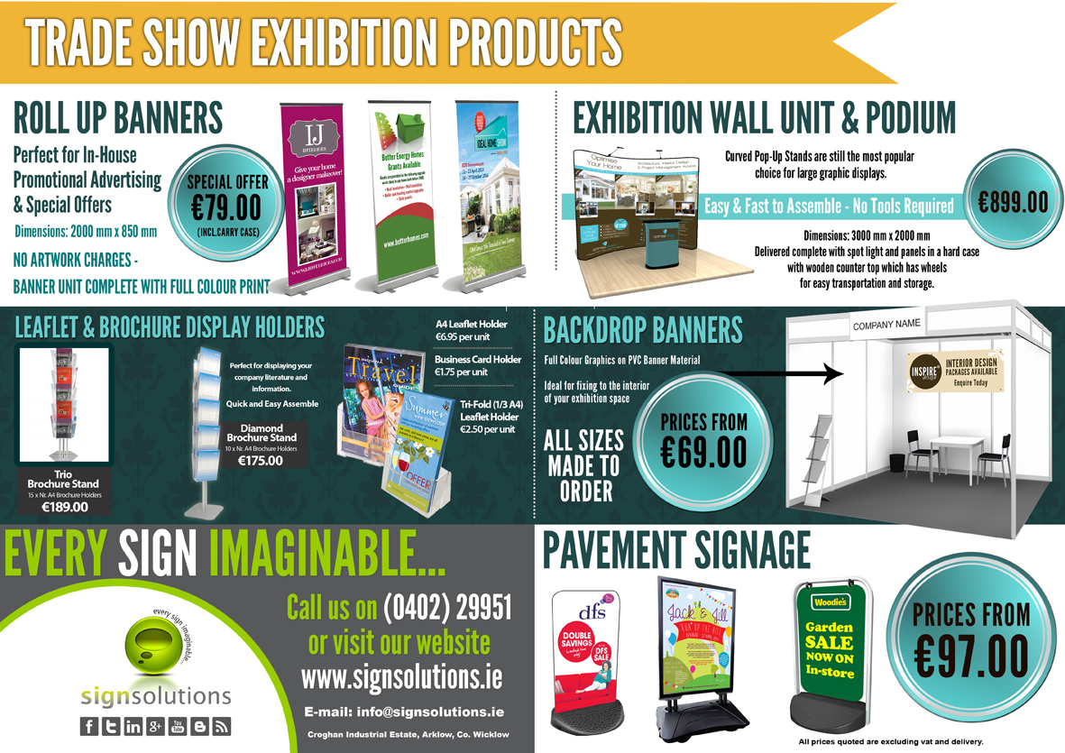 e) Trade Show Exhibition Products
