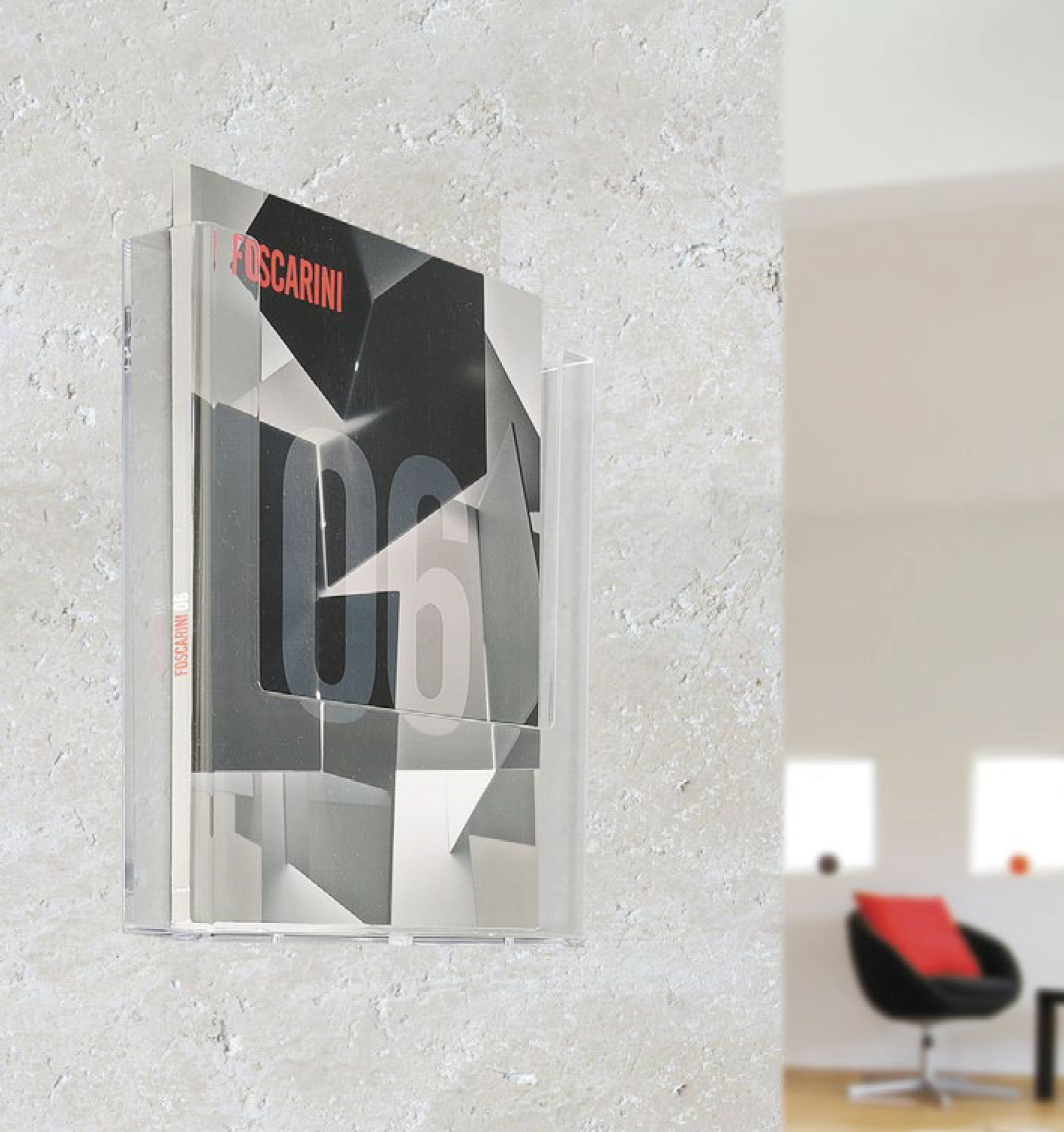 B) Wall Mounted Brochure Holder